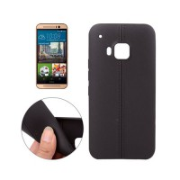 Funda TPU Leather HTC One M9 -Negro
