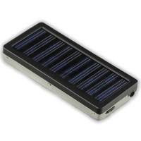 Cargador Solar 1350mAh (Moviles/Cámaras Digitales/PDA/MP3/MP4) -Negro