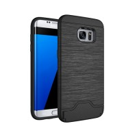 Funda Samsung Galaxy S7 Edge G935F Brushed Series Negro