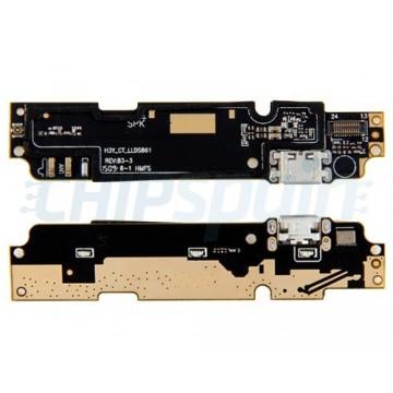 Placa con Conector Carga Micro USB y Micrófono Xiaomi Redmi Note 2