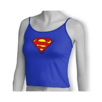 Superman: Camiseta Tirante Fino Azul Logo Superman