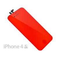 Pantalla Completa iPhone 4S -Rojo Espejo